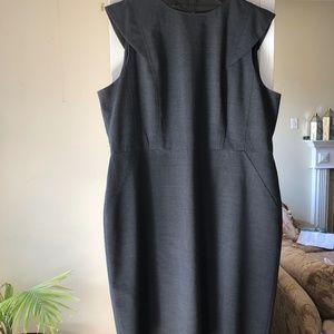 Plus size 20 Black Resume Sheath dress J Crew